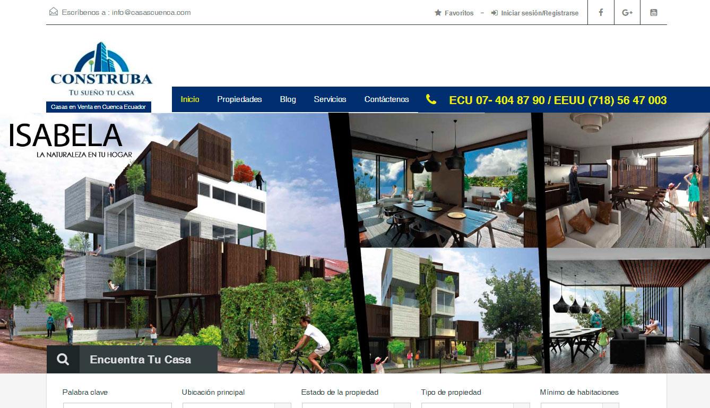 Construba casas en venta en cuenca ecuador equilibrio for Paginas inmobiliarias