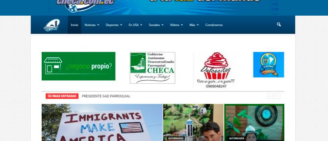 Web para la Parroquia Checa, Azuay