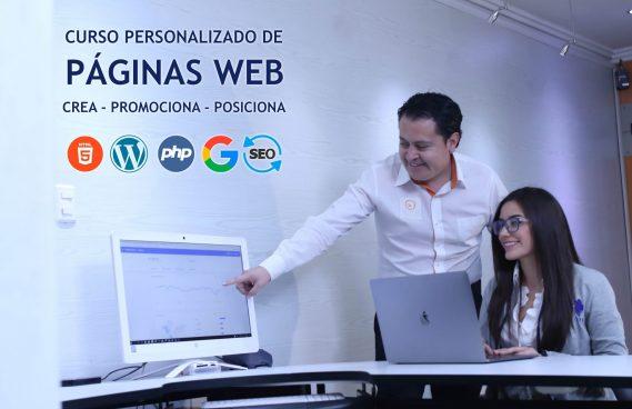 Cursos personalizado para creación de páginas web y marketing digital