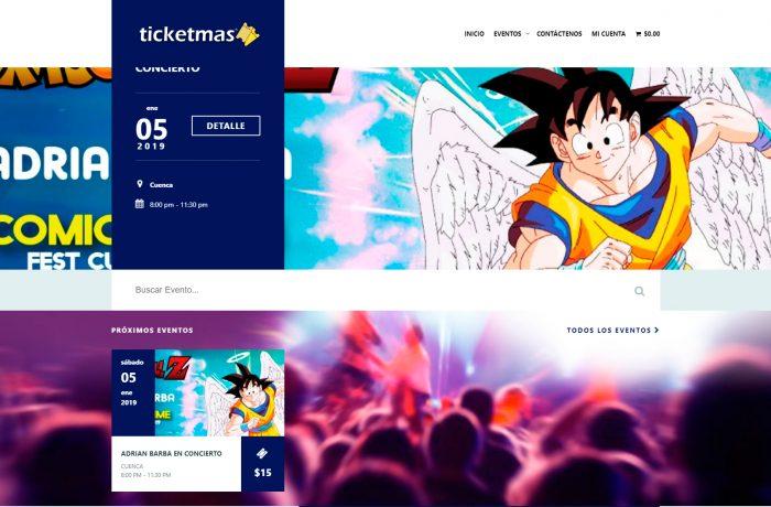 ticket más venta de tickets para conciertos y eventos online